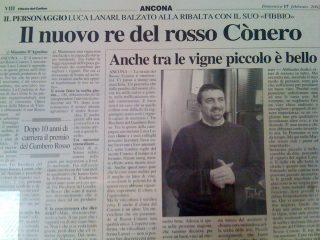 FIBBIO CONERO RISERVA - PREMIO 3 BICCHIERI DEL GAMBERO ROSSO 2002
